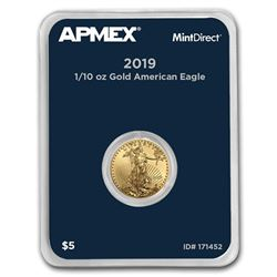 2019 1/10 oz Gold American Eagle (MintDirect® Single)