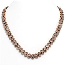 89.35 ctw Canary Citrine & Diamond Necklace 14K White Gold