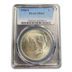 1926-S Peace Dollar MS-64 PCGS