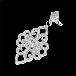 2.51 ctw VS Black Diamond Solitaire Halo Ring 10K White Gold