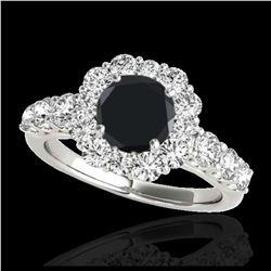 1.37 ctw SI/I Fancy Intense Yellow Diamond Ring 10K Rose Gold