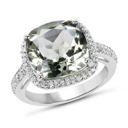 2 ctw Peridot & VS/SI Diamond Necklace Halo 18K White Gold