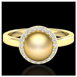 1 ctw SI/I Fancy Intense Yellow Diamond Ring 10K White Gold