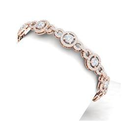 61.92 ctw Ruby & Diamond Bracelet 14K White Gold
