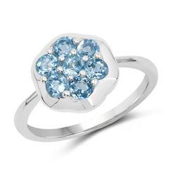 0.60 ctw Genuine Blue Topaz .925 Sterling Silver Pendant