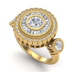 33.25 ctw Swiss Topaz & Diamond Halo Necklace 10K White Gold