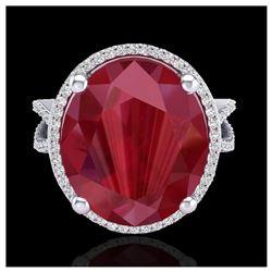 1.75 ctw SI/I Fancy Intense Yellow Diamond Ring 10K White Gold