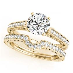 1 ctw Intense Blue Diamond Solitaire Necklace 10K Rose Gold