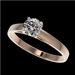1.40 ctw H-SI/I Diamond Solitaire Halo Ring 10K Yellow Gold
