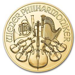 2020 Austria 1/25 oz Gold Philharmonic BU