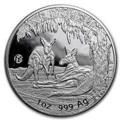 2018 Australia 1 oz Silver 25th Anniversary Kangaroo (F15 Privy)