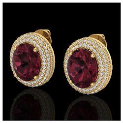 1.93 ctw Princess VS/SI Diamond Necklace 18K Rose Gold