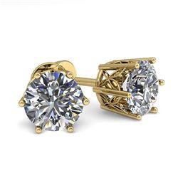2.0 ctw Black VS/SI Diamond Necklace 18K Yellow Gold