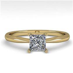 1.0 ctw VS/SI Oval Cut Diamond Stud Earrings 14K Yellow Gold