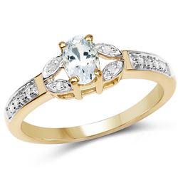 0.96 ctw Genuine White Diamond .925 Sterling Silver Ring