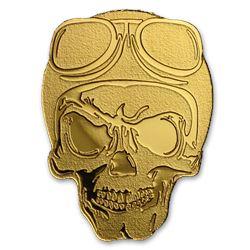 Palau 1/2 gram Gold $1 Golden Biker Skull