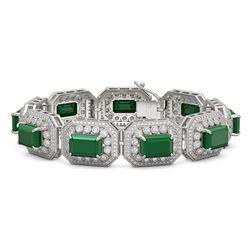 7.56 ctw Aquamarine & Diamond Earrings 14K Rose Gold