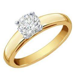 1.64 ctw VS/SI Diamond 2pc Wedding Set Halo 14K Yellow Gold