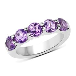 0.61 ctw Genuine Ruby .925 Sterling Silver Ring