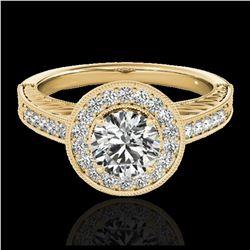 2.5 ctw SI/I Fancy Intense Yellow Diamond Ring 10K White Gold