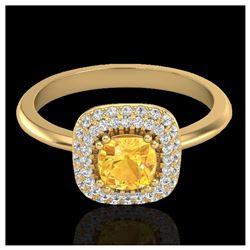 1.15 ctw VS/SI Diamond Solitaire Art Deco Stud Necklace 18K White Gold