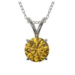 1.15 ctw SI Diamond Halo Necklace 14K White Gold