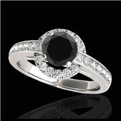 1.01 ctw Fancy Black Diamond Art Deco Stud Earrings 18K Rose Gold