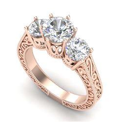 4.75 ctw Emerald & Diamond Ring 14K White Gold