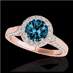 1.63 ctw Intense Fancy Yellow Diamond Art Deco Earrings 18K Rose Gold