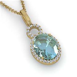4.29 ctw Genuine Blue Topaz & White Topaz .925 Sterling Silver Ring
