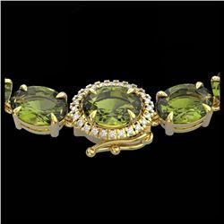 32.95 ctw Aquamarine & Diamond Bracelet 14K White Gold