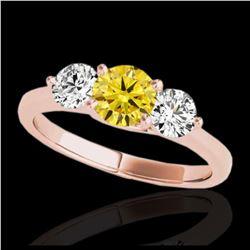 3.25 ctw VS/SI Diamond Earrings 14K Rose Gold
