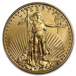 2016 1/10 oz Gold American Eagle BU