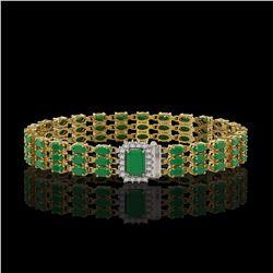 3 ctw Sky Blue Topaz & Diamond Necklace 14K Rose Gold