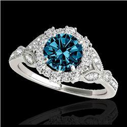 1.60 ctw SI/I Fancy Intense Yellow Diamond Ring 10K White Gold