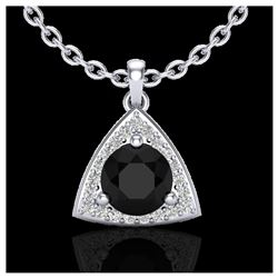 1.25 ctw Intense Blue Diamond Ring 10K White Gold