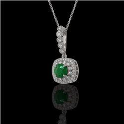 1.25 ctw VS/SI Cushion Cut Diamond Ring 10K White Gold