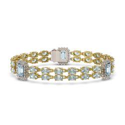 2.04 ctw Aquamarine & Diamond Ring 14K Rose Gold