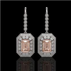 4.55 ctw Sapphire & Diamond Ring 14K Rose Gold