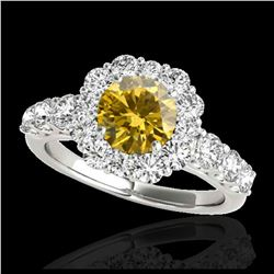 39.55 ctw London Topaz & Diamond Necklace 14K Yellow Gold