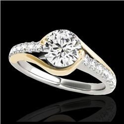1.50 ctw Intense Yellow Diamond Necklace 10K White Gold