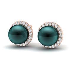 5 ctw Aquamarine & VS/SI Diamond Tennis Earrings 10K Rose Gold