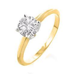 4.40 ctw Blue Sapphire & Diamond Ring 14K Yellow Gold