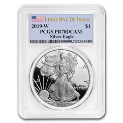 2019-W Silver American Eagle PR-70 PCGS (First Day of Issue)