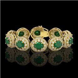 8 ctw Citrine & VS/SI Diamond Earrings 18K Yellow Gold