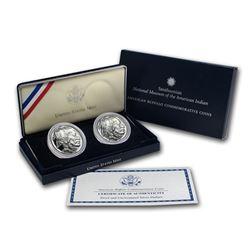 2001 Buffalo 2-Coin Set BU & Proof