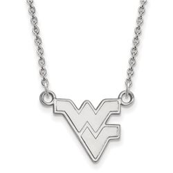 Sterling Silver West Virginia Univ. Necklace - 18 in.