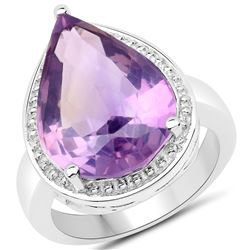 2.50 ctw Garnet & VS/SI Diamond Necklace 18K White Gold