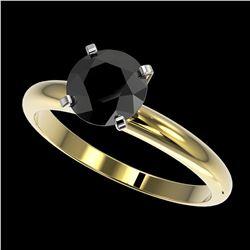 0.77 ctw Intense Blue Diamond Ring 10K White Gold