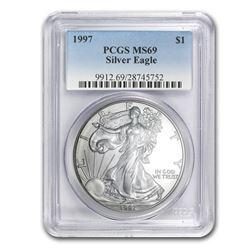 1997 Silver American Eagle MS-69 PCGS